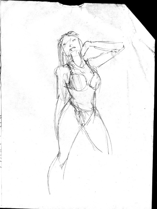 Dr Sketchy's Red Sonja