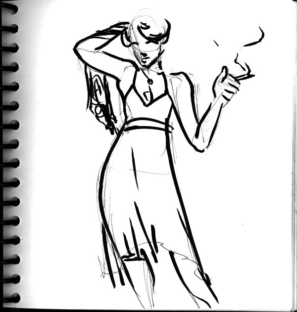 Dr Sketchy's, Smoking