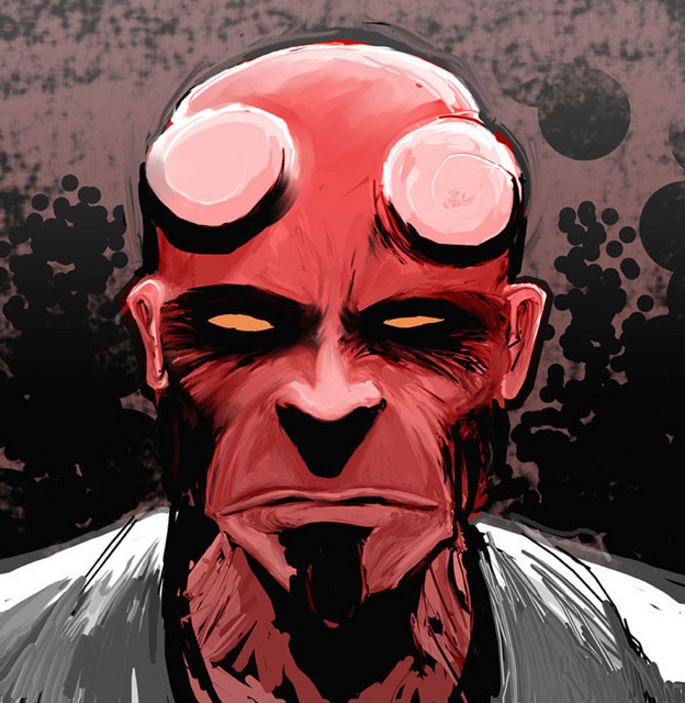 Rough Hellboy
